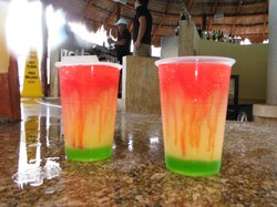Signature cocktails from the swim up bar