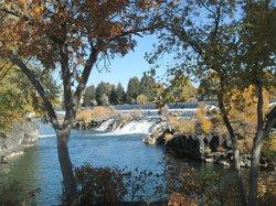 Snake River and the falls, Idaho Falls