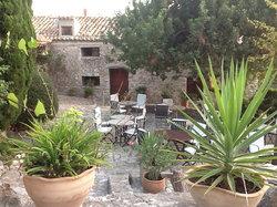 Outdoor terrace dining area
