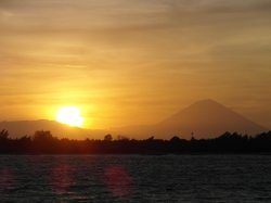 sunset mit Gunung Agung