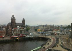 Rainy day view from our room - central Amsterdam