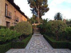 Garden on the grounds of the parador