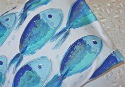 My gorgeous blue shimmery fish cushion