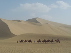 Ancient Silk Road in Xinjiang, China