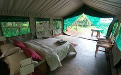 Spacious double tent