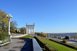 Central embankment of Volgograd