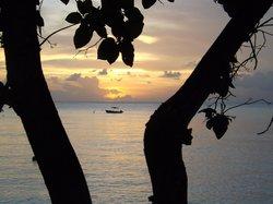 Sunset from the beachfront