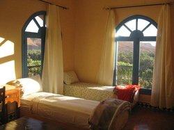 room on roof level overlooking oasis