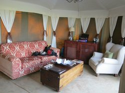 Sitting room in individual lodge