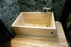 木頭私人浴池