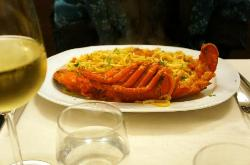 Lobster with pasta as main