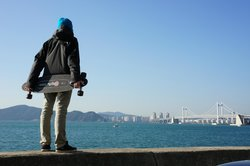 On a trip to Busan, South Korea i took my longboard to check out the city. (85582544)