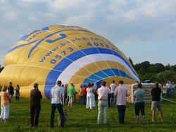Luchtballon ligt klaar