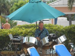Steel drums! Music was played by the pool every day.