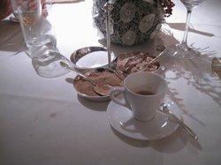 ein Schluck Kaffee