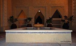 un angolo del resort, una delle tante fontane
