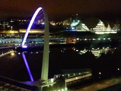 Nighttime view from the arc royal