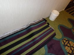 Carpet was being installed right next to our room.