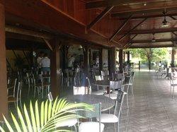 Área do bar da piscina