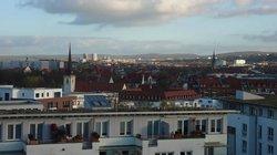 Blick aus der Juniorsuite über Erfurt