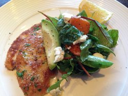 Pan fried chicken escalope