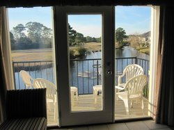 Small Furnished Deck Overlooking Pond/Fountains/Golf Course