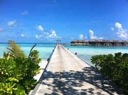 View towards the North East water villas