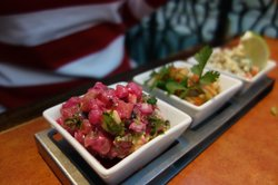 Trio of ceviche