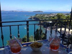 Enjoying an aperitivo from one of the hotels stunning vistas