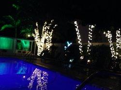 Night time pool setting