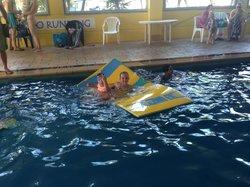 Great fun in the heated pool
