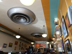 Interior of Big Al's - We were intrigued by the big vents(?) on the ceiling.