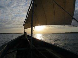 Sunset in a Wasini dhow