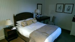 The sleeping area of the suite