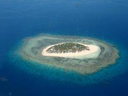 Navini island from air