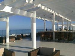 Bar overlooking the beach