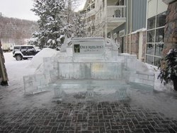 Ice Sculpting at the Main Entrance
