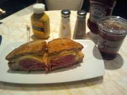 Ruben and Iced Tea from Zoozacrackers Deli ($19.22)