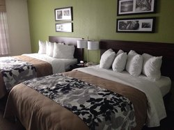 A little decorating goes a long way! Comfy beds, too.