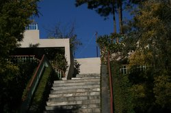 Stairs up to our rooms