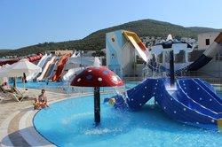 kids pool and water slides
