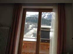 the window with the view from our room