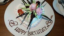 Birthday cake! gift from hotel,thanks