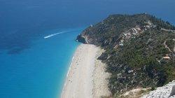 View to Milos Beach from Kathisma radiotower