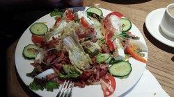 Top salade met spek en geiten kaas