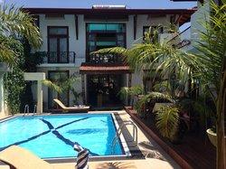 Villa exterior and pool