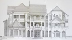 Drawing showing hotel design