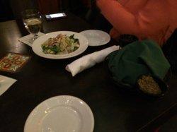 Pita bread and salad