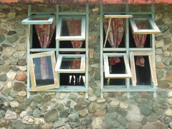 Poor yet  beautiful windows in the village at Sigatoka (91607114)