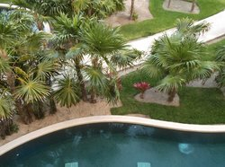 Looking Down From The Room Balcony